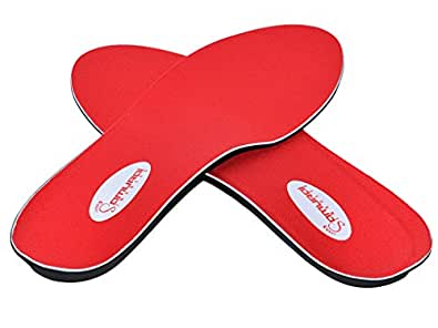 Orthotics for Flat Feet by Samurai Insoles- Fight back against Plantar Fasciitis, Heel Pain, and Pronation. Insert Our Arch Supports Into Mens or Womens Dress, Running Shoes or Boots,M4-4.5/W6-6.5
