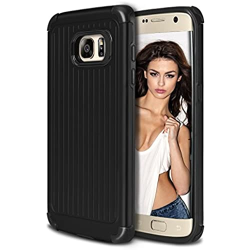 Galaxy S7 Edge Case, Coolden Heavy Duty Galaxy S7 Edge Case Protective Bumper Cover Shock Proof Grip Cover Slim Fits Shell for Galaxy S7 Edge - Black Sales