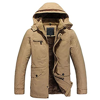 Yocobo Chaqueta Personalizada Chaqueta con Capucha y Abrigo de Invierno para Hombre con Abrigo cálido Delgado