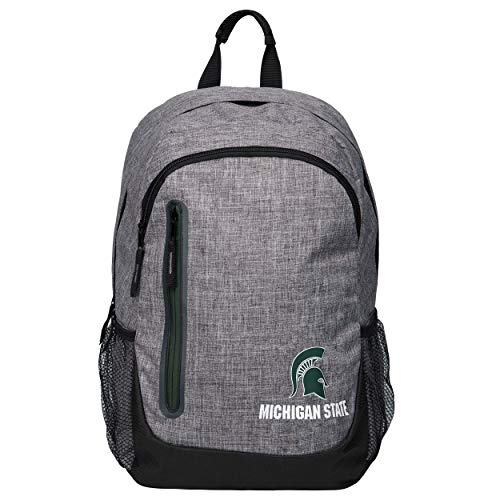 FOCO NCAA Michigan State Spartans Heather Grey Bold Color Backpackheather Grey Bold Color Backpack, Team Color, One -