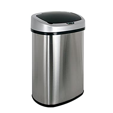 PayLessHere Touchless Automatic Infrared Sensor Trash Can 13.2 Gallon Stainless Steel