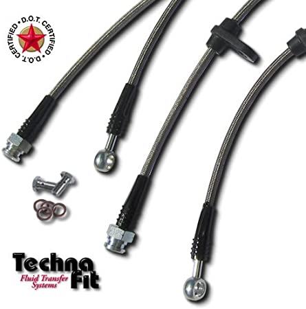 - Red HN-1410RD V-TEC Techna-Fit Brake Line Kit for 1997-2001 HONDA PRELUDE S 4 SI
