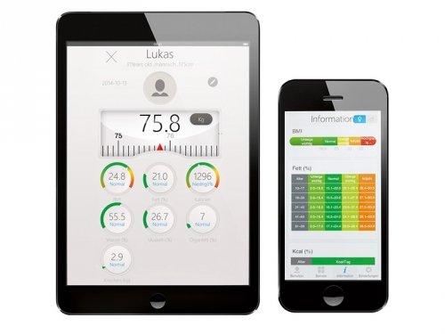 AEG PW 5653 BT - Báscula de análisis de 8 funciones, Bluetooth compatible con Android e iOS, color blanco y plata: AEG: Amazon.es: Salud y cuidado personal