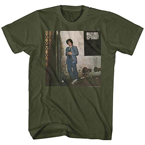 (Billy Joel T Shirt 52ND Street Adult Short Sleeve XL)