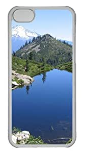 Customized Case Landscapes mountain lake 3 PC Transparent for Apple iPhone 5C