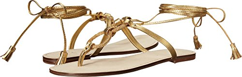 Boho-Chic Vacation & Fall Looks - Standard & Plus Size Styless - Lilly Pulitzer Women's Lacey Sandal Gold Metal Sandal