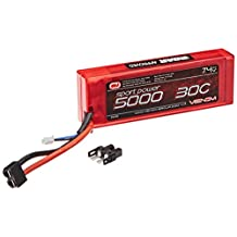 Venom 30C 2S 5000mAh 7.4V Sport Power LiPO ROAR with Universal Plug x4 Packs