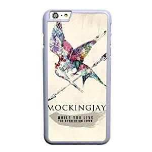 Grouden R Create and Design Phone Case,The Hunger Games Mockingjay Cell Phone Case for iPhone 6 6S 4.7 inch White + Tempered Glass Screen Protector (Free) GHL-5543259
