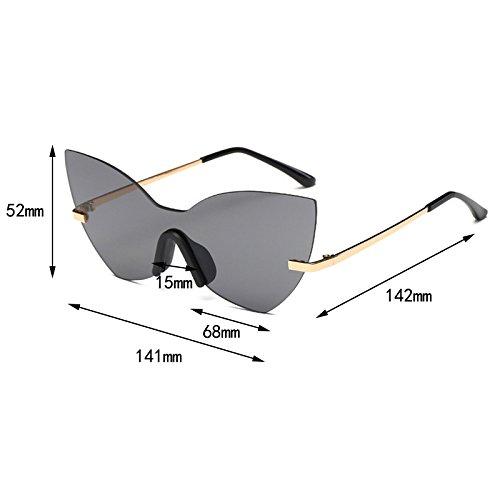 9a30938ea9 Horrenz gato gafas de sol sin rebordes de los ojos Sombras de gran tama?o  nuevo ...