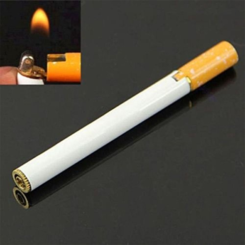 (Cigarette Shaped Refillable Butane Gas Novelty Cigar Lighter Windproof Jet Flame)