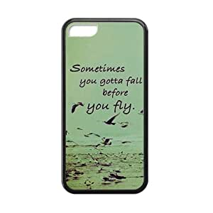 Sometimes You Gotta Fall before you fly iPhone 4s Case Back TPU Laser Technology Durable Case