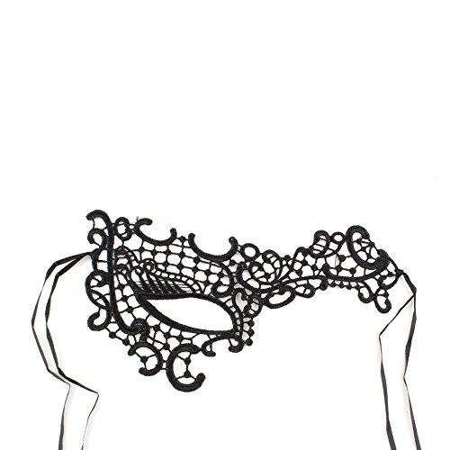 Women Girls Sexy Lace Venetian Masquerade Eye Mask for Ball Prom Fancy Dress Party Favors, (One Eye Masquerade Mask)