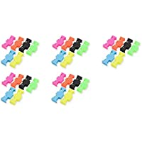 5 x Quantity of Helicopter Quadcopter Airplane Boat Car Controller Servo Extension Safety Lock Clips 6 Locks Clip Neon Safe Factory Units
