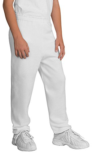 Port & Company Youth Sweatpant, White, ()