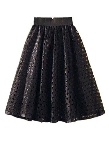 Mi Jupe Jupe Extensible Avec Avec ElGant Taille Femme Universite Jupe vase Jupe Black Zip Skirt Longue Parapluie Tayaho Femelle Hole afdwg1dq