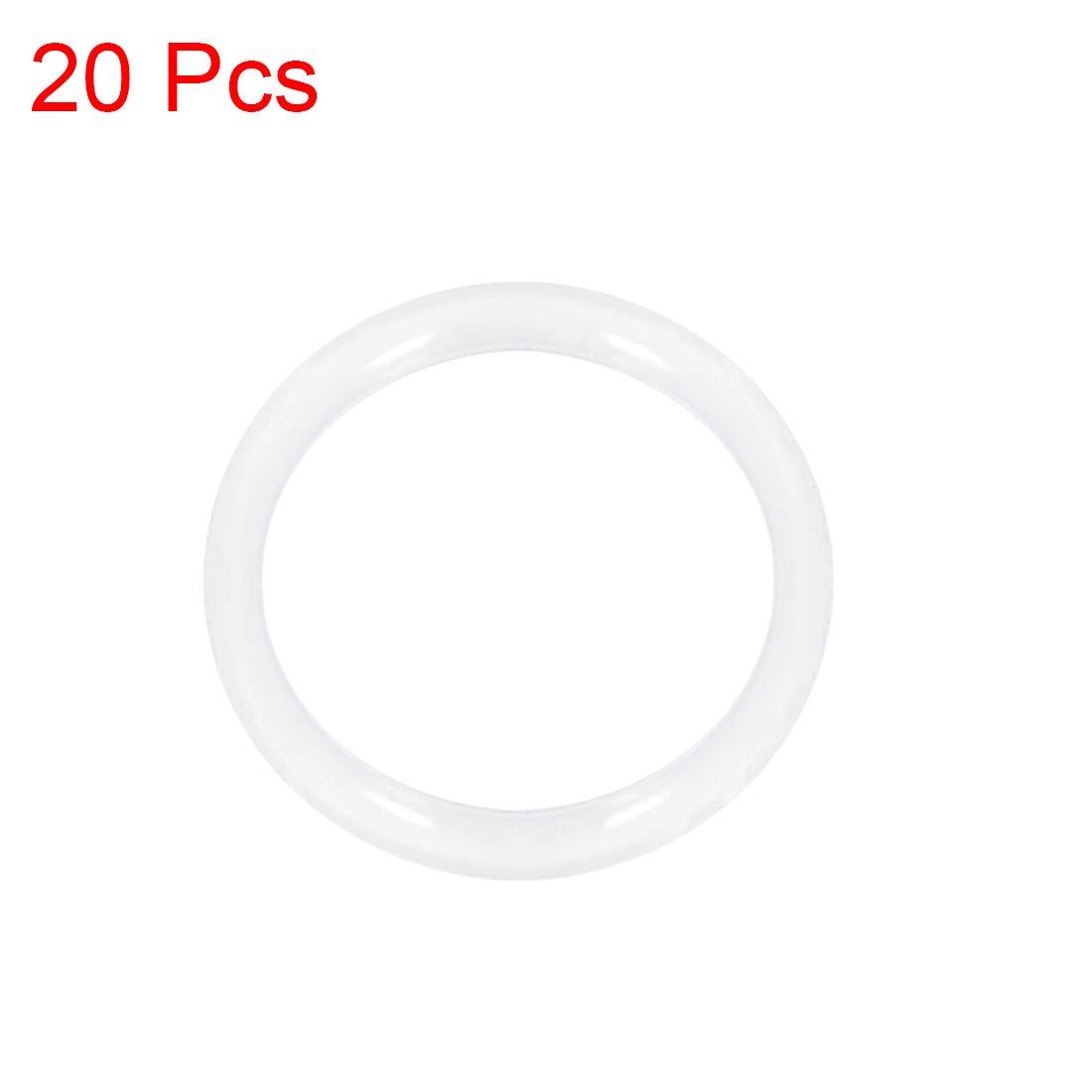 di/ámetro interior de 25 mm di/ámetro de 31 mm ancho de 3 mm junta de sello 20 piezas sourcing map juntas t/óricas de silicona