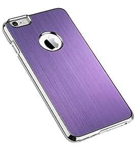 "iPhone 6 Plus Case, ULAK Slim-Fit iPhone 6 Plus Case 5.5"""" Luxury Aluminum Metal Slate Chrome Hard Case for Apple iPhone 6 5.5 Inch Release on 2014 (Slim Fit - Purple)"