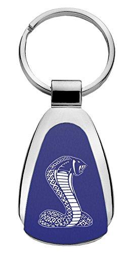 Ford Mustang Cobra SVT Teardrop Shaped Key Chain Blue