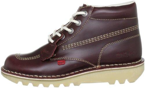 Botas De Hombre Kickers Kick Hi Leather Botas De Color Rojo Oscuro - 9 Uk / 43 Eu