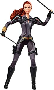 Barbie Marvel Studios' Black Widow Doll, 11.5-in, Poseable with Red Hair, Wearing Armored Bodysuit and Boots,