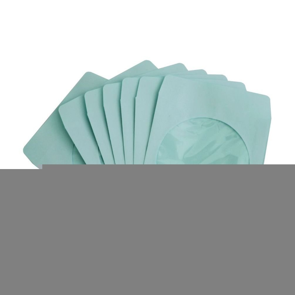 Fashion 100 Pack Blue Paper DVD CD Sleeve Envelope with Clear Window Cut Out and Flap