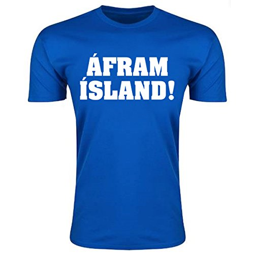 Iceland Afram Island T-Shirt (Blue) B01I4MLSKQBlue Medium (38-40\