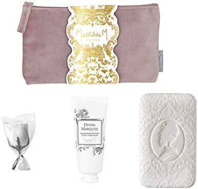 Mathilde M – Estuche regalo Benessere Mani, perfume Divine Marquise – Fetes Royales: crema de manos 30 ml, rosa en hojas de jabón 5 g, jabón cachemir 100 g: Amazon.es: Hogar