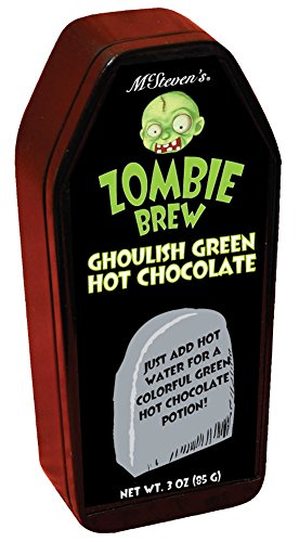 Zombie Brew, Ghoulish Green Hot Chocoloate, 3 Oz Can (3 Chipotle Halloween)