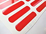 Oval Shaped Red Reflective Vinyl Reflector Decal