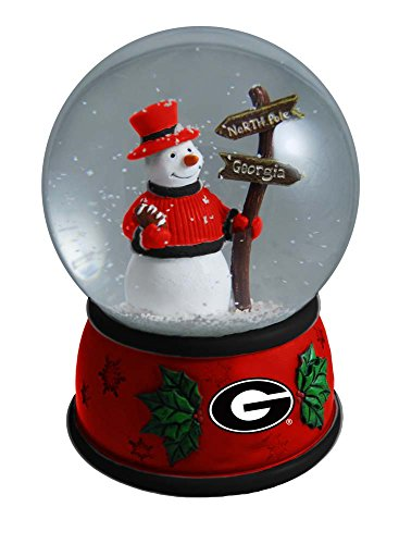 The Memory Company NCAA University of Georgia Christmas Snow Globe, One Size, Multicolor from The Memory Company