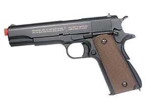 Soft Air Colt 1911 Gas Powered Pistol, Black/Brown