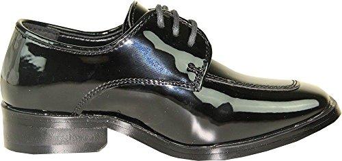Bravo! Vangelo Mens Tuxedo Shoes Tux-3 Antiriflesso Scarpe Da Cerimonia Formali Oxford Black Patent