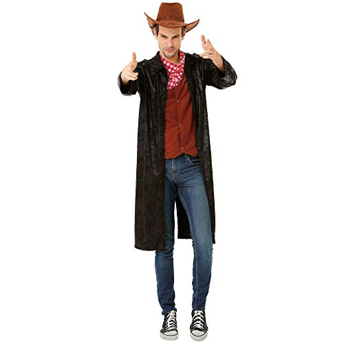 Boo Inc. Gallant Gunslinger | Men's Western Cowboy Hero Sheriff Halloween Costume, M -