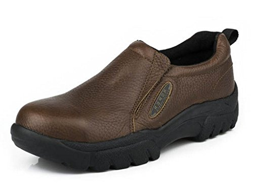 Roper Men's Slip-On Steel Toe Work Shoes Brown 10 D(M) US