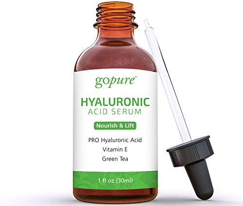goPure Hyaluronic Acid Serum with Vitamin C, Green Tea & Vitamin E (Tea Green Vitamins)