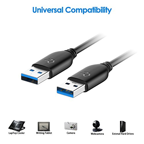 Rankie USB 3.0 Cable, Type A to Type A, 1-Pack 6 Feet