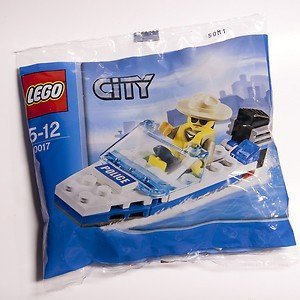 LEGO City Mini Figure Set #30017 Police Boat Bagged