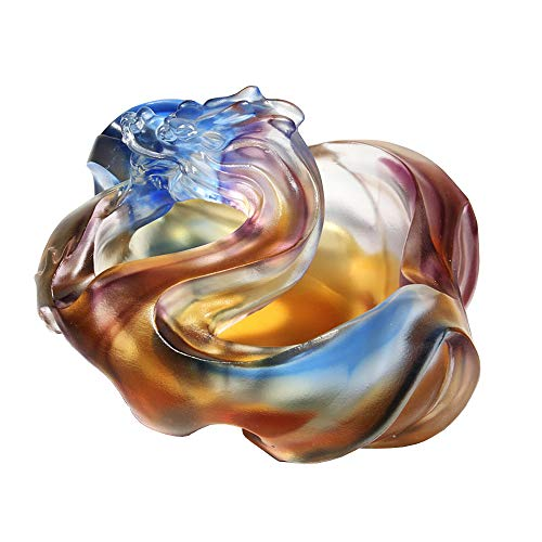 - Ashtray Glass Crystal Home Office Desktop Decoration, Multi-Functional Creative Cigar Accessories Ashtray, Candy Bowl, Fashion Creative Large-Capacity Decorative Ashtray (148X128X83MM)