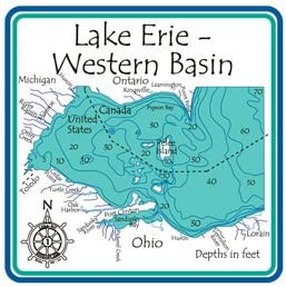western lake erie map Amazon Com Lake Erie Western Basin Region 3d Laser Carved Depth western lake erie map