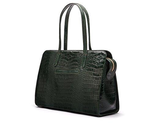 SAGEBROWN Green Croc Ladies Leather Work Bag by Sage Brown (Image #2)