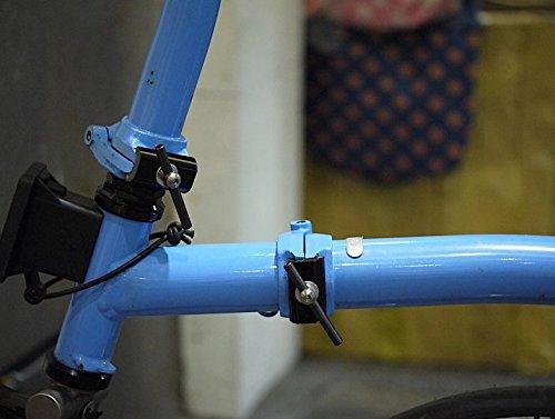 Nov Black Easy shell titanium MOVING hinge clamps lever for Brompton Folding Bike - Dino Kiddo by Dino Kiddo (Image #2)