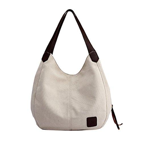 White YJYDADA Handbags Blue Women's Vintage Bags Shoulder Female Single Canvas Hobos FwZFHqv