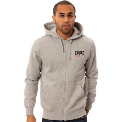 Crooks & Castles Mens M.P.R Hoody Zip Sweatshirt/Sweater, Heather Gray, 2X-Large