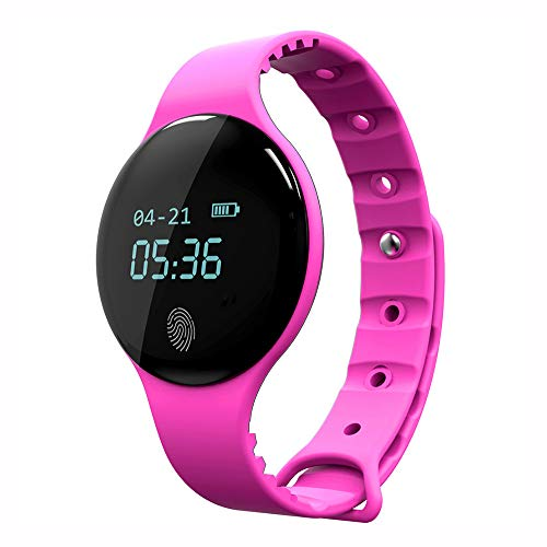 (Alalaso Smart Waterproof Bluetooth Sport Watch Heart Rate Monitor Smart Watch for iOS an(Pink))