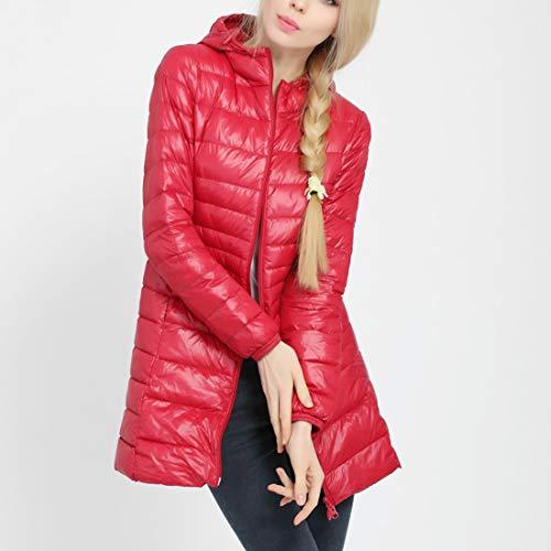 Doudoune Matelassé Imperméable Blouson Femme Rouge Vêtement Veste Légèr  Hiver Lounge G Duvet À Chaud Capuche Well Manteau ... 0e9d96bd93e