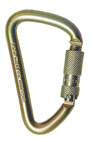 MSA 506572 Automatic Twist Locking Steel Carabiner, 7/8'' Gate