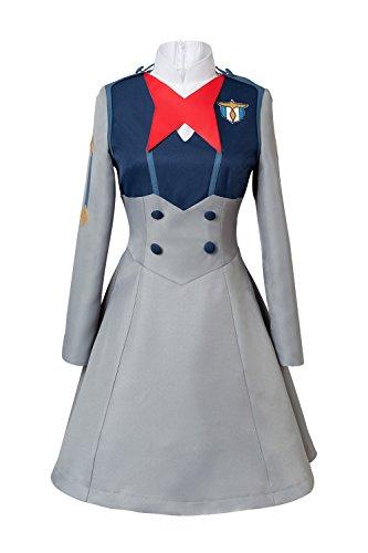 Sinastar Darling In The FRANXX Ichigo Cosplay Costume Halloween School Uniform Dress