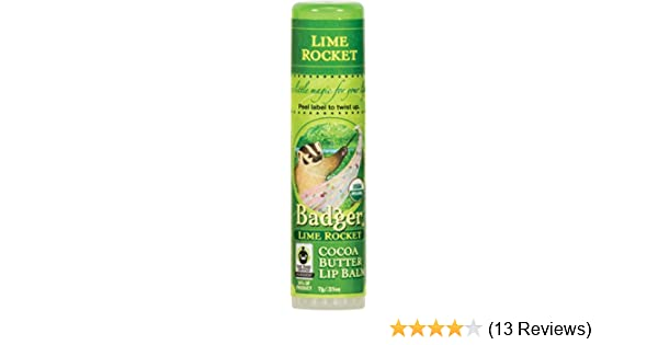 Badger - Certified Organic Cocoa Butter Lip Balm Stick Lime Rocket - 0.25 oz. (pack of 3) Eminence Organic Skincare. Apricot Calendula Nourishing Cream 1.0 oz.