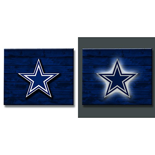 Team Sports America 6WLT3808 Dallas Cowboys Lit Wall Décor ()