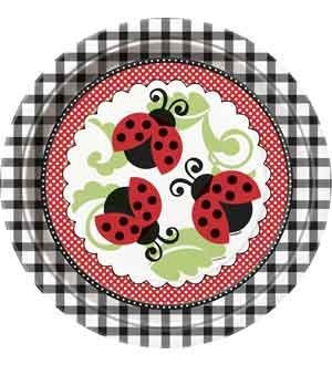 Lively Ladybugs 9 Inch Plates 8 Ct (3 Piece/Pack) - 44095U by Unique Industries